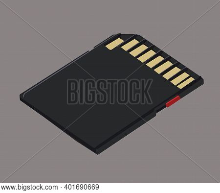 Memory Card, Memory Stick  Vector Illustration Isolated On Grey Background
