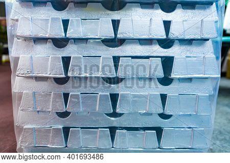 Raw zinc aluminum ingot background