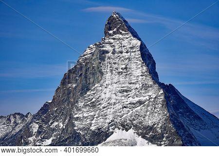 Matterhorn Very Close Up At A Nice Day