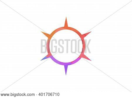 Compass, Compass Rose, Magnetic Compass Navigation Icon. Compass Concept Logo Design