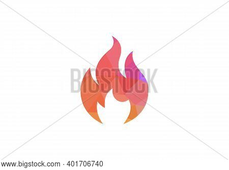 Fire Logo. Fire Flame Burn, Vector Black Line Icon. Flammable Warning Or Spicy Food Label, Burning H