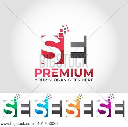 Se Alphabet Business Logo Design Company Concept