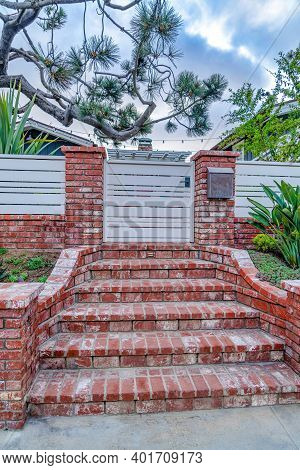 Red Brick Steps Image Photo Free Trial Bigstock