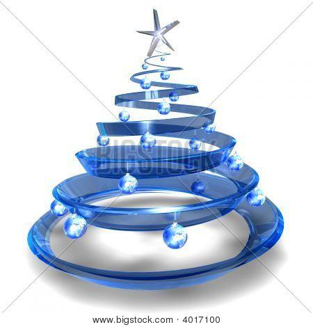 Modern Glass Christmas Tree