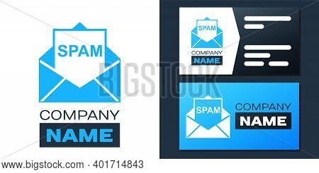 Logotype Envelope With Spam Icon Isolated On White Background. Concept Of Virus, Piracy, Hacking And