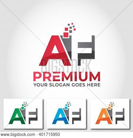 Af Alphabet Business Logo Design Company Concept
