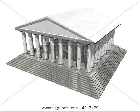 3D Temple Isolated