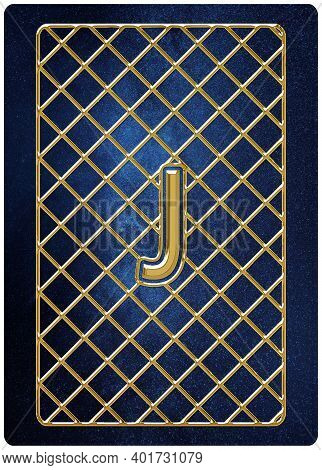 Joker Card, Joker Playing Card, Space Background, Gold Silver Symbols, With Clipping Path.