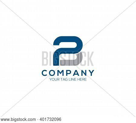 Pb Alphabet Modern Logo Design Company Concept