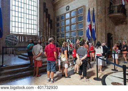 Santo Domingo,  Dominican Republic - January 11, 2017: The National Pantheon Of The Dominican Republ
