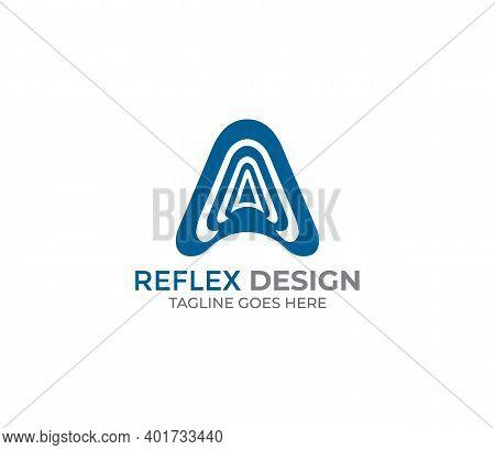 A Alphabet Reflex Logo Design Company Concept