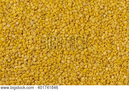Mung Dal Or Mung Daal Bean Texture Background. Nutrition. Bio. Natural Food Ingredient.
