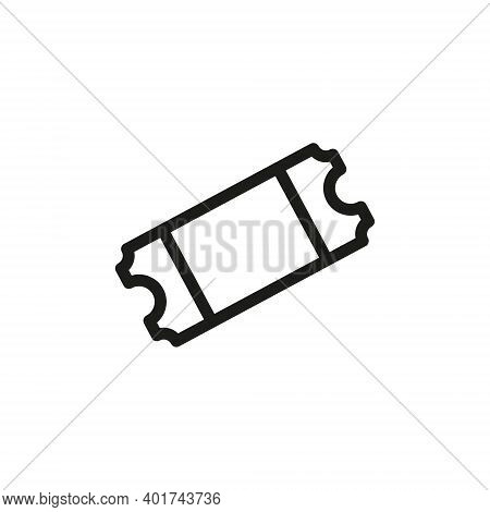 Tickets Icon Isolated On White Background From Ecommerce Ui Collection. Tickets Icon Trendy And Mode