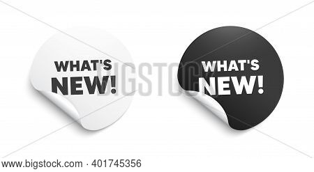 Whats New Symbol. Round Sticker With Offer Message. Special Offer Sign. New Arrivals Symbol. Circle