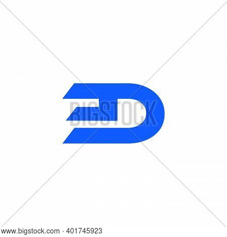 Abstract Letter Ed Simple Geometric Logo Vector