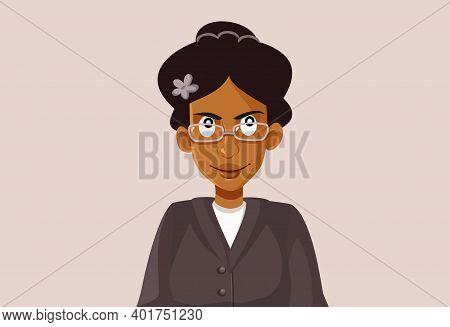 Ny, Usa, January 3, 2020, Rosa Parks Vector Caricature