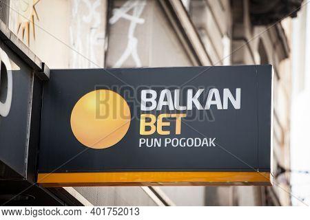 Vienna, Austria - June 8, 2019: Balkan Bet Logo Taken On Their Shop For Belgrade. Balkan Bet Is A Se