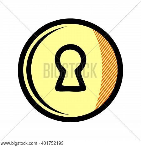 Keyhole Icon Isolated On White Background From Security Collection. Keyhole Icon Trendy And Modern K