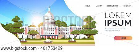 Capitol White House Building Washington D.c. Usa Presidential Inauguration Day Celebration Concept G