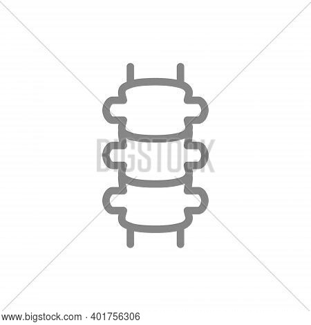 Human Spine Line Icon. Healthy Spinal Canal Symbol