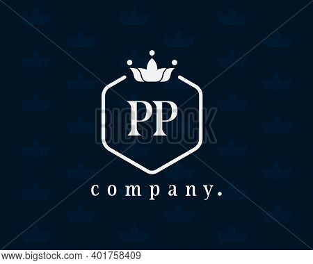 Modern Elegant Creative P Logo Emblem And Template. Pp Icon Initial Based Monogram. The Vintage Lett