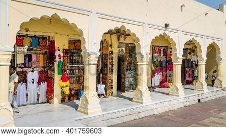 Jaipur, Rajasthan - 18 Oct, 2019 - Souvenir Shops Inside The City Palace Jaipur