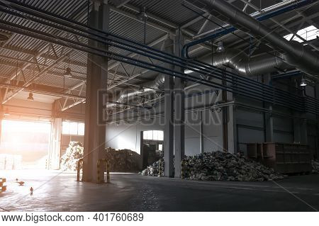 Factory For Recycling Garbage From The Inside.