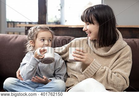 Family Values And Quality Time. The Concept Of Children's Friendship And Happy Family Time.