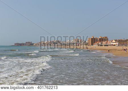 Torre La Mata Spain Beautiful Beach With Waves Near Torrevieja Costa Blanca