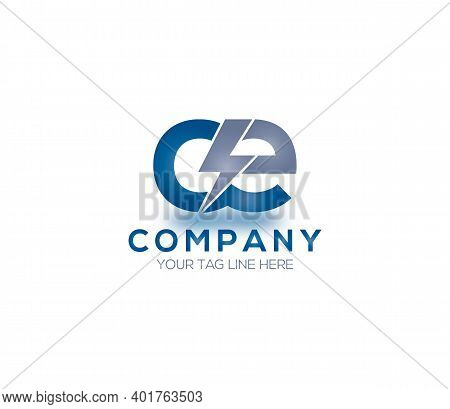 Ce Alphabet Electric Logo Design Concept Compnay