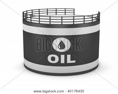 Oil storage tank and pipeline