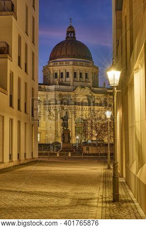 View To The Reconstructed Berlin Palace At Night