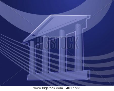Grand Building With Pillars Illustration