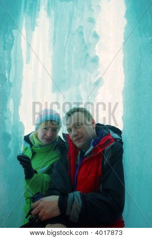 Couple In Ice Grotto
