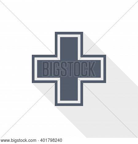 Pharmacy Vector Icon, Flat Design Illustration In Eps 10