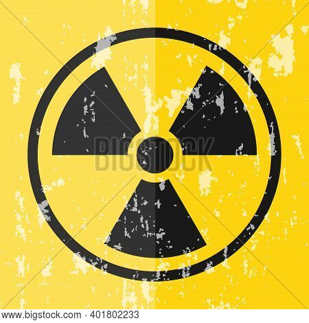 Radiation Sign. Radiation Vintage Sign. Vector Illustration. Vector.