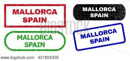 Mallorca Spain Grunge Seals. Flat Vector Grunge Watermarks With Mallorca Spain Message Inside Differ