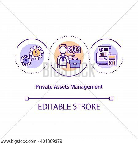 Private Asset Management Concept Icon. Managing Finance. Cost Effective System. Business Service Ide
