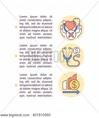 Expensive Medical Insurance Concept Icon With Text. Health Insurance. Healthcare Expenses Ppt Page V
