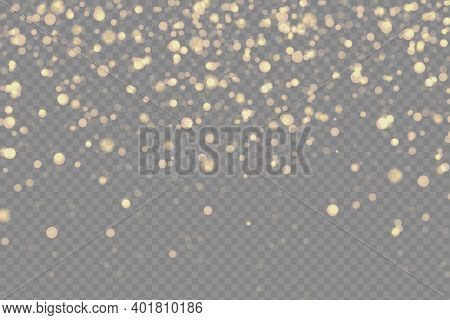 Glittering Particles Of Fairy Dust. Shiny Sparks Sparkle Magically On A Transparent Background. Chri