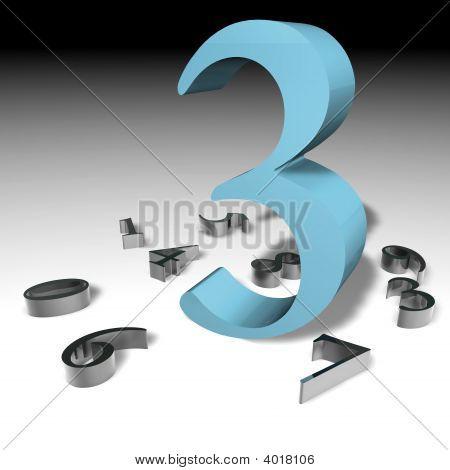 Number 3 3D