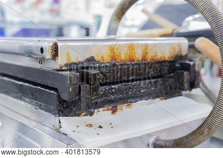 A Dirty Waffle Maker That Cooks You Baked Waffles With Transgenic Fats That Are Harmful To Your Heal
