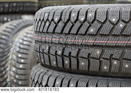 Care For The Safety Of The Driver And Passengers, Winter Studded Tires For Harsh Conditions Of Opera