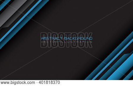 Abstract Blue Grey Cyber Geometric Slash With Blank Space And Text Design Modern Futuristic Backgrou