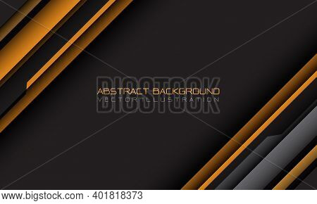 Abstract Yellow Grey Cyber Geometric Slash With Blank Space And Text Design Modern Futuristic Backgr