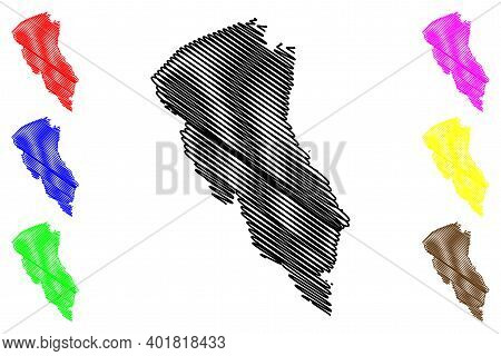 Turkana County (republic Of Kenya, Rift Valley Province) Map Vector Illustration, Scribble Sketch Tu