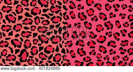 Jaguar Pink Tracery Seamless Pattern. Puma Crimson