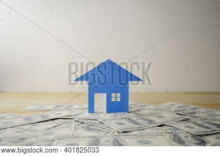 Saving Money For Real Estate With Buying A New Home And Loan For Prepare In The Future Concept. Hous