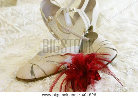 Ladies Strap Shoe With Brooch