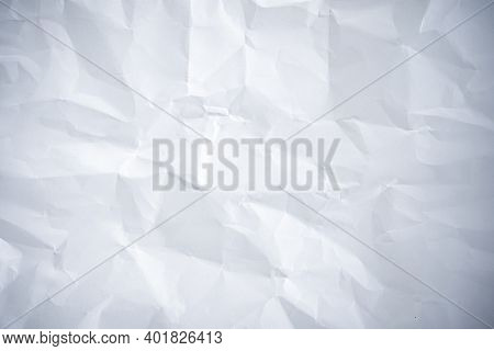 Background Concept. The White Paper That Looks Like A Crumpled Into A Pattern.